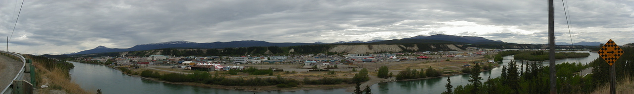 Downtown Whitehorse, taken from across the river.