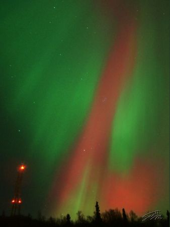 Eagle River Aurora - This image was selected for display in the 2004 Fur Rendezvous Photo Competition