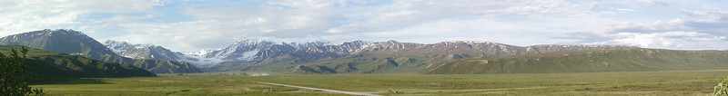 Gulkana Glacier in the background, taken from near the Richardson Monument in Isabel Pass.