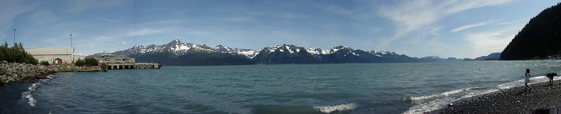 Resurrection Bay from Seward, Alaska.