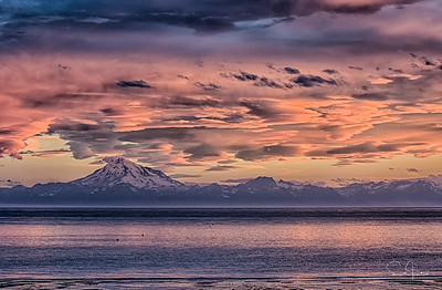 Mt. Redoubt After Sunset