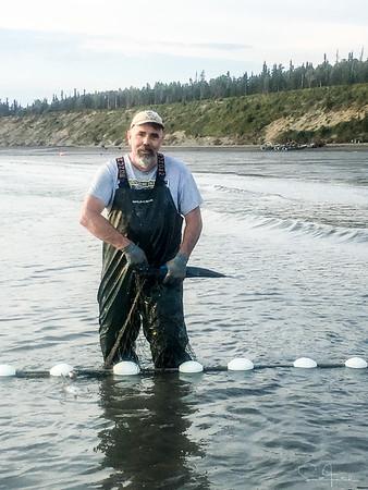 Scott picking fish