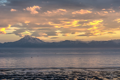 Mt. Redoubt at Sunset