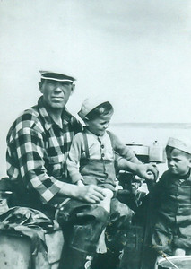 Ole fishing with Lars & Knut (circa 1944)