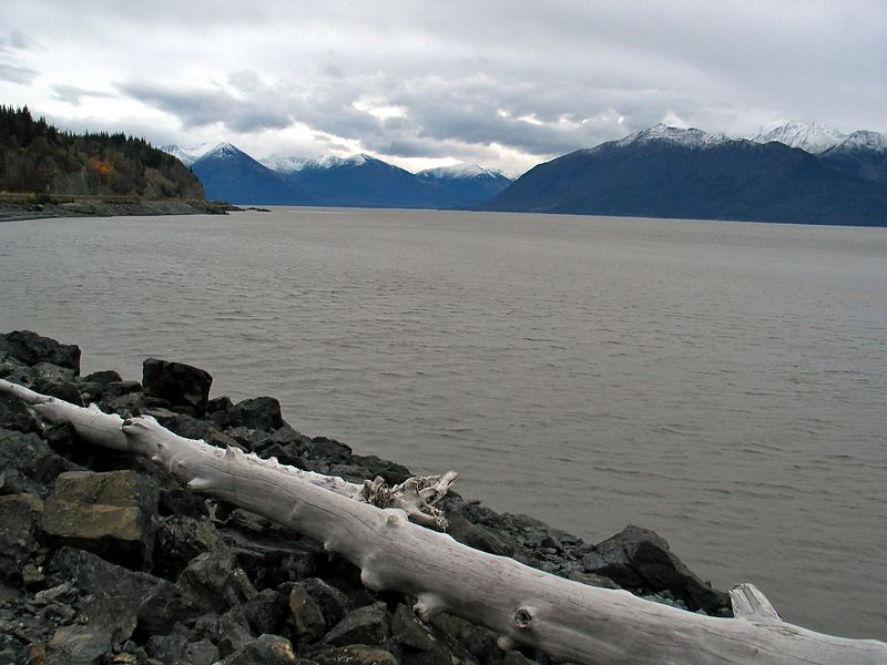 View East up the Turnagain Arm of the Cook Inlet