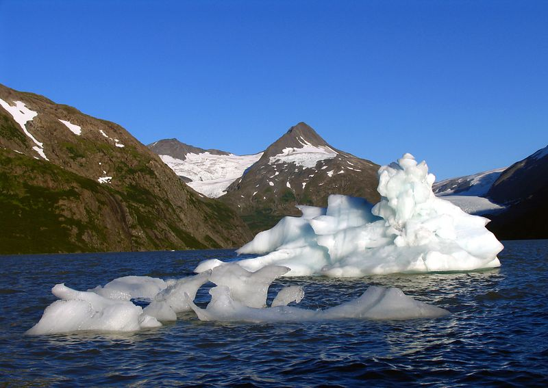 Icebergs, Portage Lake-August 5, 2004  8:40PM