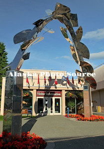Alaska. Anchorage Convention and Visitors Bureau - Visitor Center in downtown Anchorage.