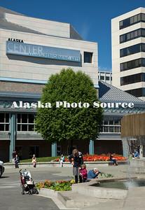 Alaska. Alaska Center for the Performing Arts during a sunnuny, summer day.