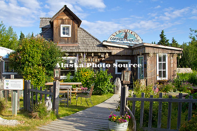 Alaska. present day Veronica's Coffee House is the historical site of the Oskolof-Dolchok House, built in 1918 from hand-hewn logs by farmer Oskolkof, Kenai.