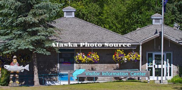 Alaska. Visitor Information Center at Soldotna along the Sterling Highway.