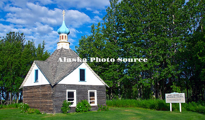 Alaska. Saint Nicholas Memorial Chapel, Kenai, built and consecrated in 1906 over the graves of Igumen Nicholia and Makary Ivanov.