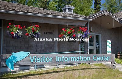 Alaska. Soldotna Visitor Information Center, along the Sterling Highway.