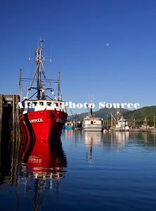 Alaska. Commercial fishing boats in St Paul Harbor, Kodiak.