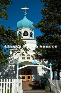 Holy Resurrection Cathedral, center of the Russian Orthodox religion in Kodiak. The church was established in 1794, and elevated to cathedral status in 2001.  It is the most recognised building in Kodiak.