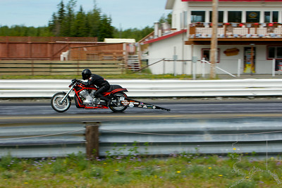 Alaska Raceway is out in Butte Alaska. Races are about every weekend in the summer. A Harley V-Rod doing 160 in the quarter.