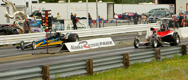Alaska Raceway is out in Butte Alaska. Races are about every weekend in the summer.