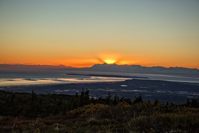 Sunset over Anchorage September 9. 2016