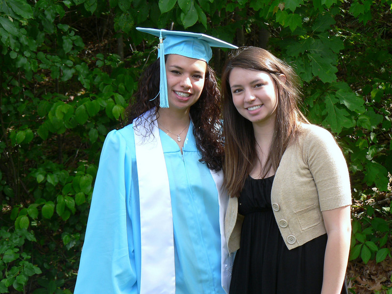 Sisters - college graduate with soon-to-be high school graduate!