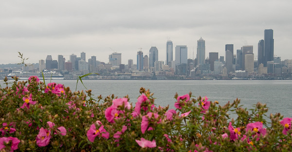 This is the view from West Seattle across the sound.