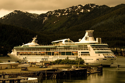 Edited version of our ship in Juneau