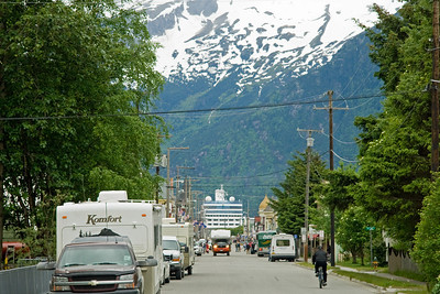 Leaving the town of Skagway on the Bus Tour.  Scenery was spectacular