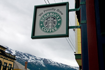 Yes, even the Starbucks siren is present in Alaskan towns with a population of only 800.