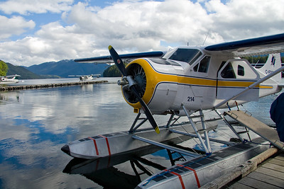 Our Seaplane docked in Prince Rupert.
