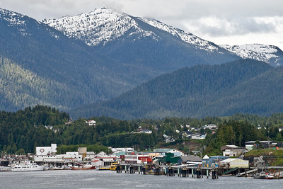 View of Prince Rupert as we were sailing away