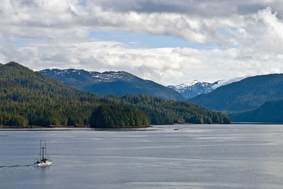 View from our balcony of Prince Rupert surrounding area