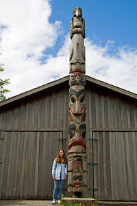 There were many totem poles in Prince Rupert