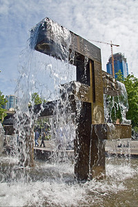Fountain outside the Aquarium