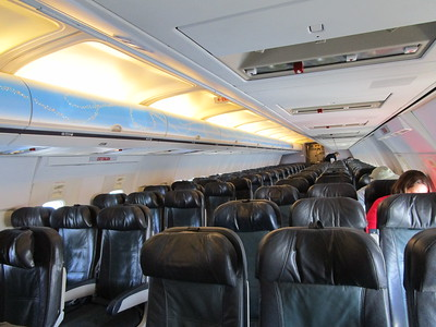 From Erik: - Not many folks on the plane!