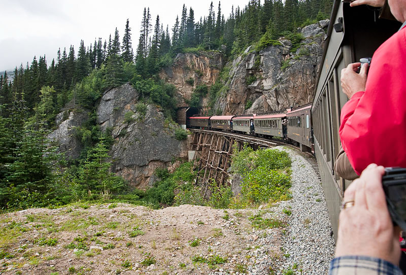 This is the Tunnel Mountain tunnel and trestle