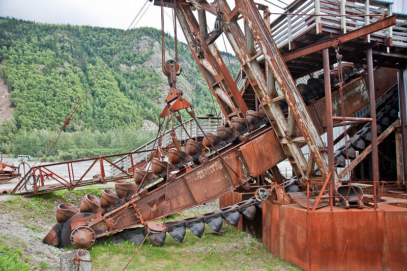 The dredge was built in 1936 by Washington Iron Works in Seattle