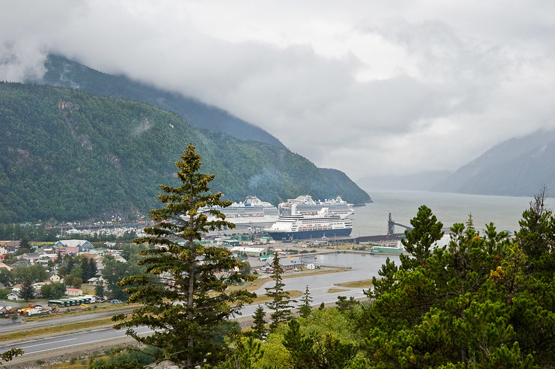 Our Ship from the Skagway Overlook
