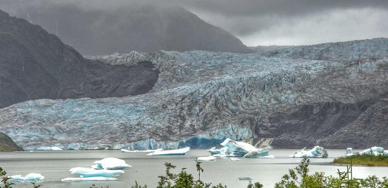 The end of our visit to the glacier
