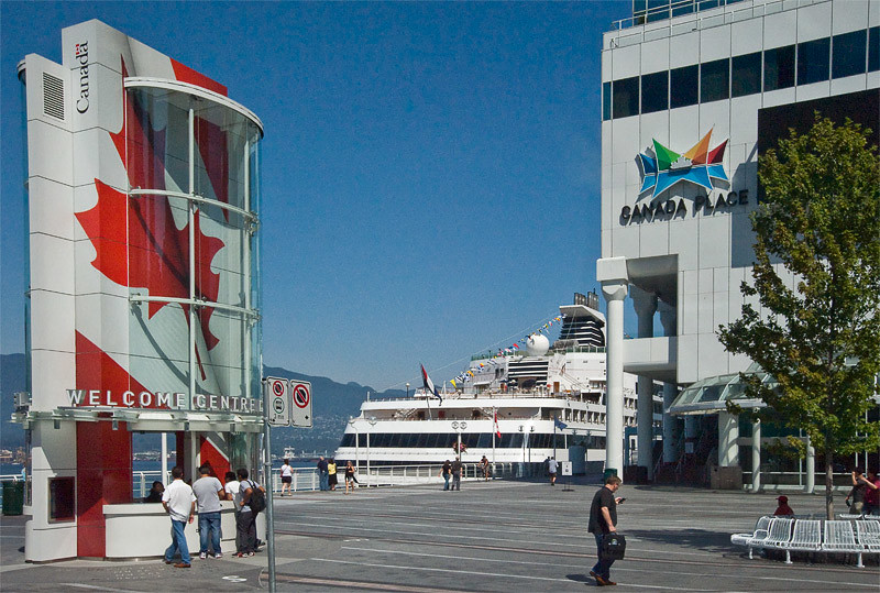 Canada Place were we board our ship, The Ryndam