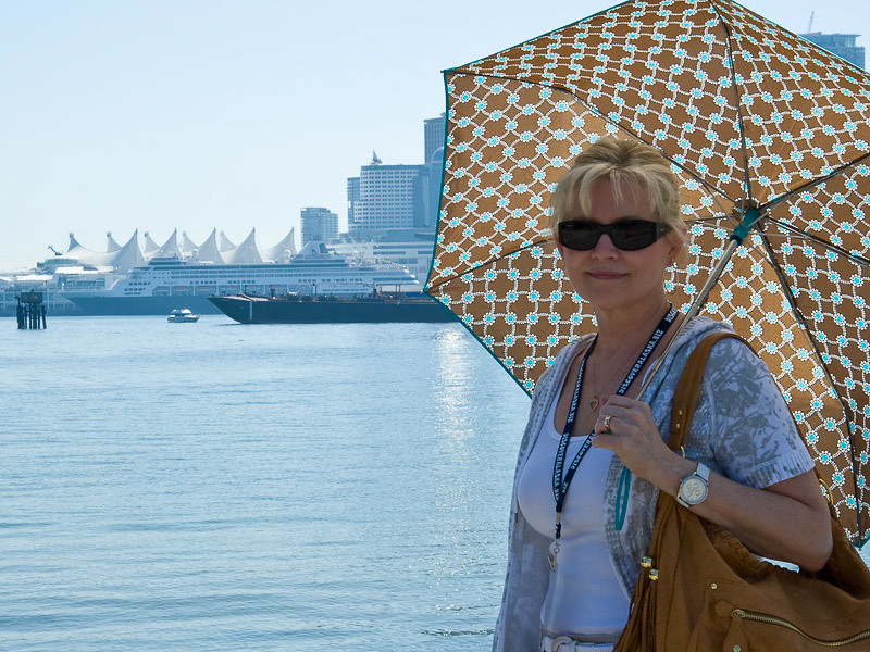 You can see our ship and Canada Place in the background