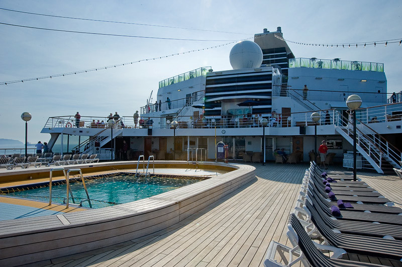The pool on the aft deck