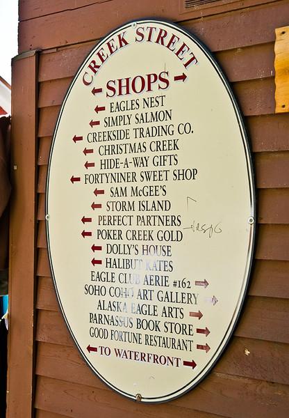 All the shops on the Creek Street Boardwalk