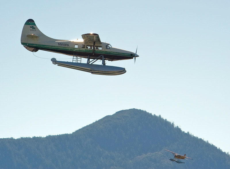 Float Plane is a major way to travel in Alaska