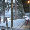 Our back porch of our cabin