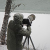 One of the other photographers setup along the bank of the Chilkat River