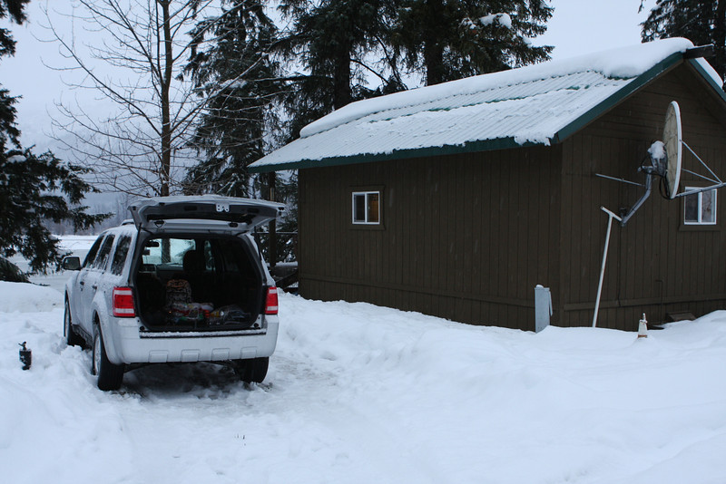 Our cabin and vehicle