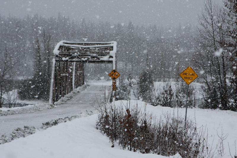 Heavy snow near Mosquito Lake