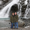 The waterfall near Mendenhall Glacier