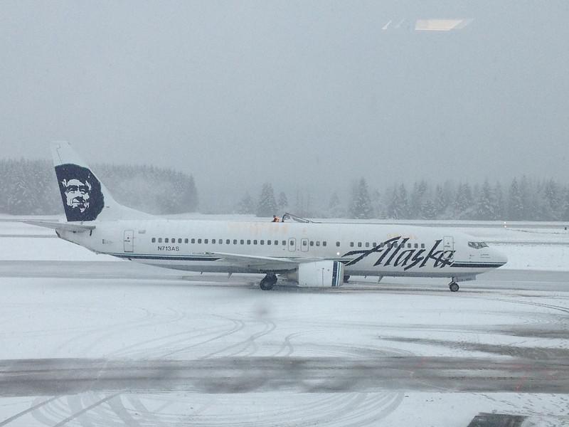 Alaska Airlines at the Juneau Alaska Airport.