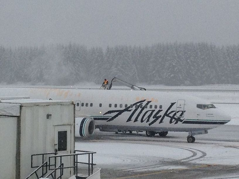 Alaska Airlines at the Juneau Airport.