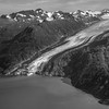 Lamplugh Glacier black and white