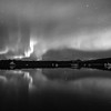 Northern Lights in black and white